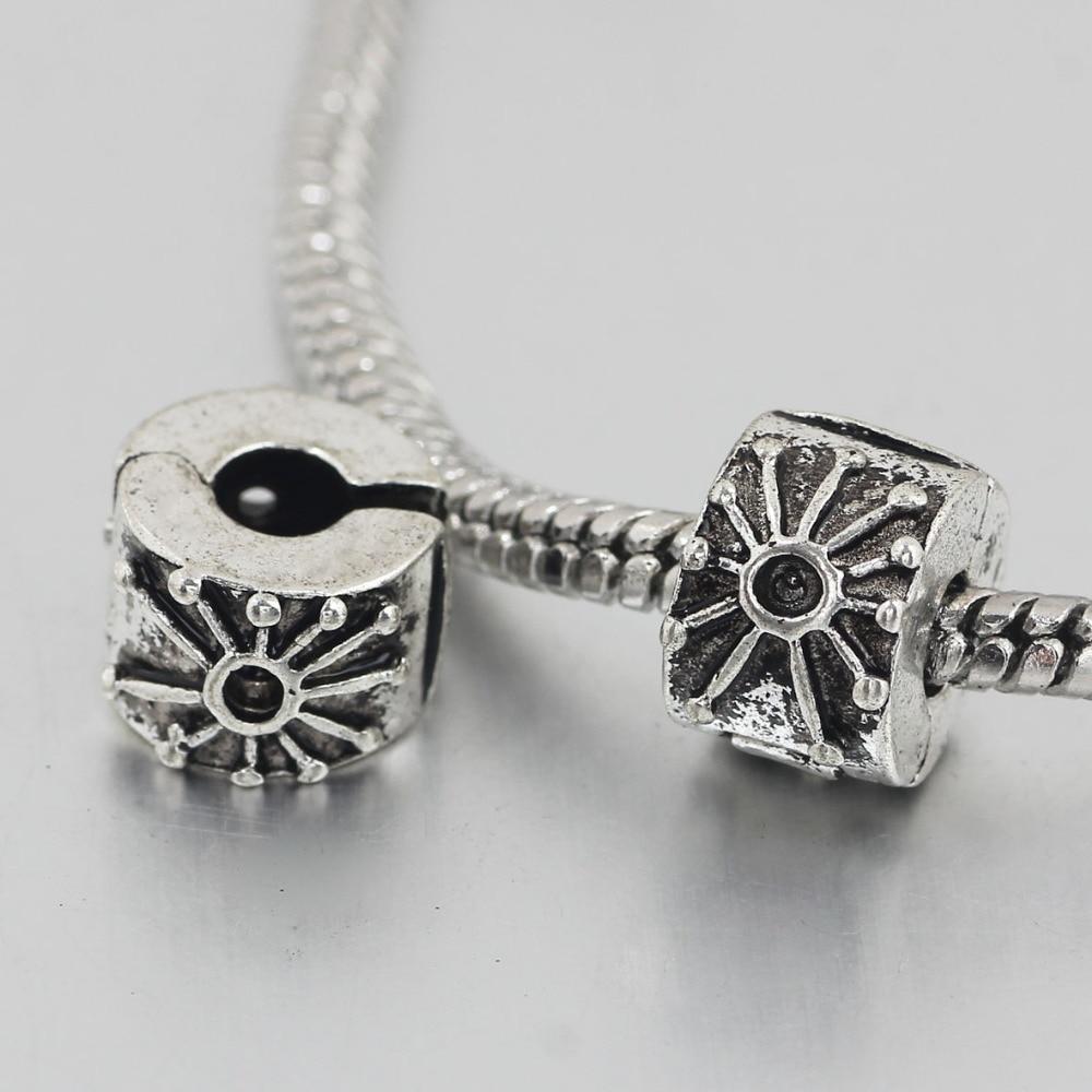 61fdabd2b ... free shipping 1pc silver clip SUN stopper bead charm Fits European Pandora  Charm ...