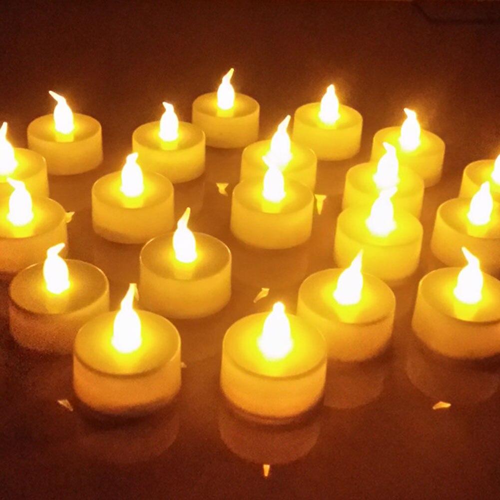 6pcs LED Electronic Candle Light New Year Candles Battery Powered Led Tealights LED Electronic Candle Lights Smokeless Lamp