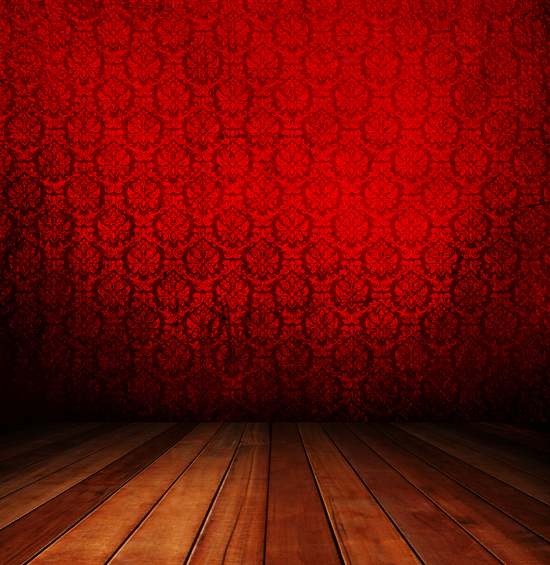 Art Fabric Photography Backdrop Red Damask Wallpaper And