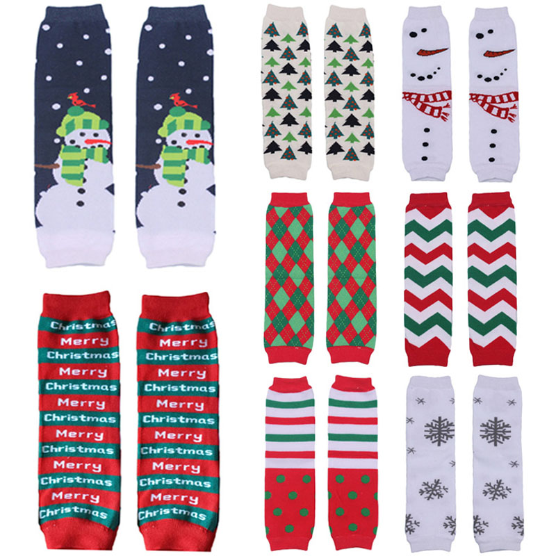 Toddler Christmas Santa Snowman Arm Leg Warmers Cotton Cute Socks Tights SCKXW0506