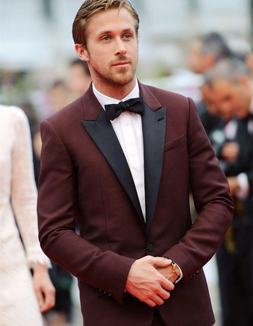Popular Suit Jacket Men Burgundy-Buy Cheap Suit Jacket Men