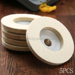 Image 5 - Disques de polissage en laine, 4 pouces, 100mm, 5 pièces, tampons de polissage pour meuleuse dangle, disque de polissage en feutre pour métal, marbre, verre, céramique