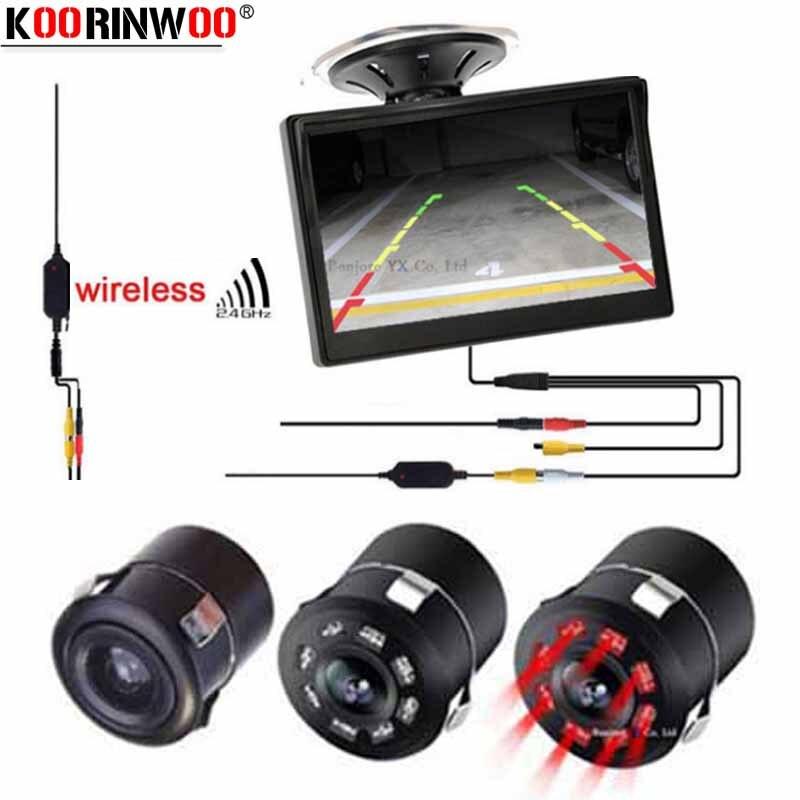 "//5/"" Monitor Reverse Rear View Cam IR CCD Camera Truck Car /& 2 2.4GHz Wireless HD"