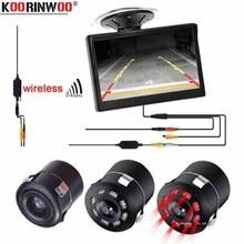 """Koorinwoo Wireless HD Inversione di Sostegno Videocamera per auto di IR di Visione Notturna + Vetro della Tazza di Aspirazione 5 """"Display LCD Vista Posteriore del Monitor schermo auto"""