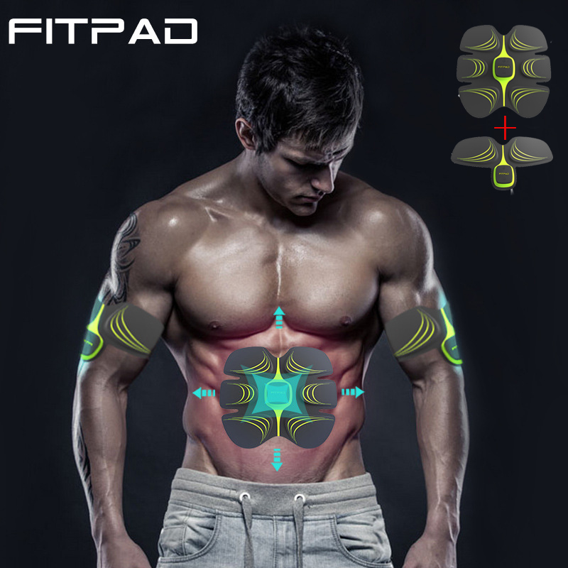 Fitpad Smart ABS Training Multi-Function EMS Muscle stimulation Hous abdominal muscles intensive training Loss Slimming Massager upgrade smart shaping muscle device abs slimming patch exerciser fit ems abdominal muscles intensive training slimming massager