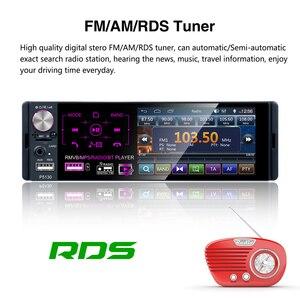 Image 3 - Podofo 1 الدين راديو السيارة Autoradio ستيريو الصوت RDS ميكروفون 4.1 بوصة MP5 مشغل فيديو USB MP3 TF ISO في اندفاعة مشغل وسائط متعددة