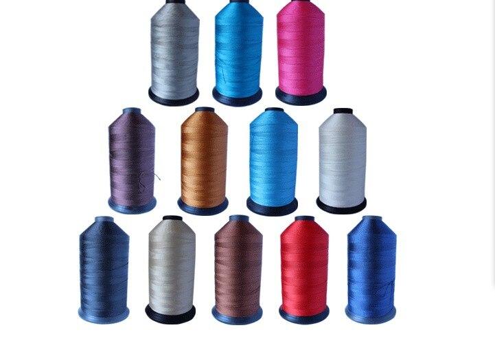 840D/3 haute résistance Dia.0.7mm fil à coudre en Polyester collé pour tissu imperméable en cuir toile chaussures tente voiture ceinture de sécurité 1000g