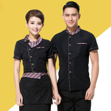 Chinese Restaurant Uniforms Chinese Hotel Waiter Uniforms Coffee Shop Waitress Uniforms Fast Food Work Wear Bakery Chef Jacket 9(China)