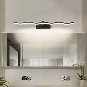 Chandeerrec современные светодиодные настенные лампы для ванной AC90-260V косметическое зеркало светодиодные водонепроницаемые Lampara de espejo de maquillaje