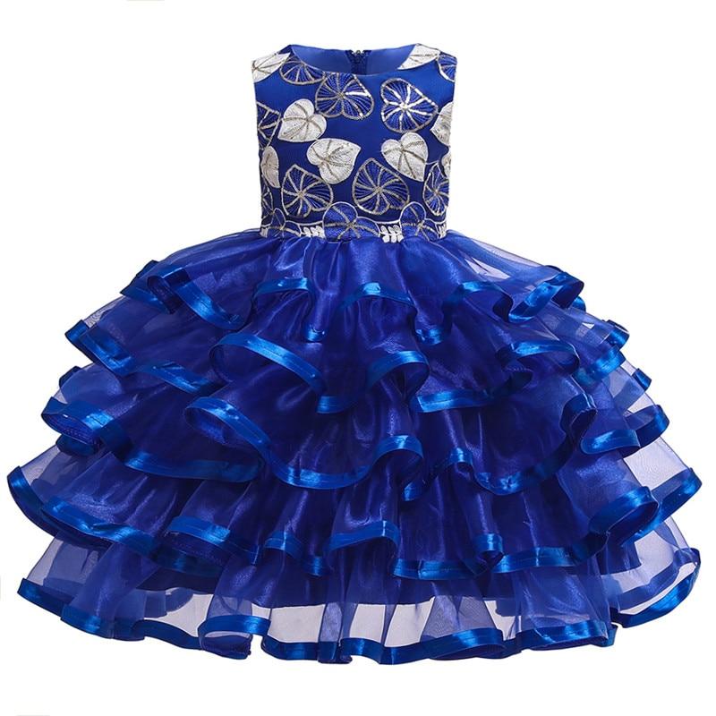 Beaded   Flower     Girl     Dresses   for Weddings Elegent Pegeant Layered Tutu Princess   Girls   First Communion   Dresses   For   Girls   2-10 Y