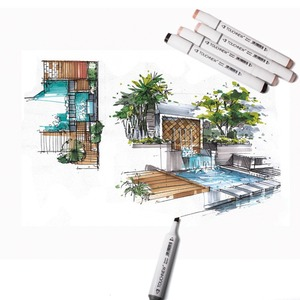 Image 5 - TOUCHNEW 30 40 Color Pen Professional Superior Artist Quality Double ended Permanent art Marker Pen Comic Drawing Art Projects