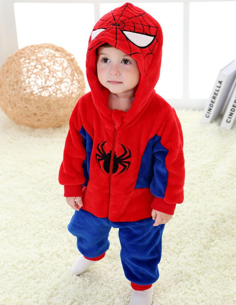 Spring and autumn baby boy clothes spiderman Captain America baby boy rompers Red Blue newborn clothes bodysuit one piece bebe (6)