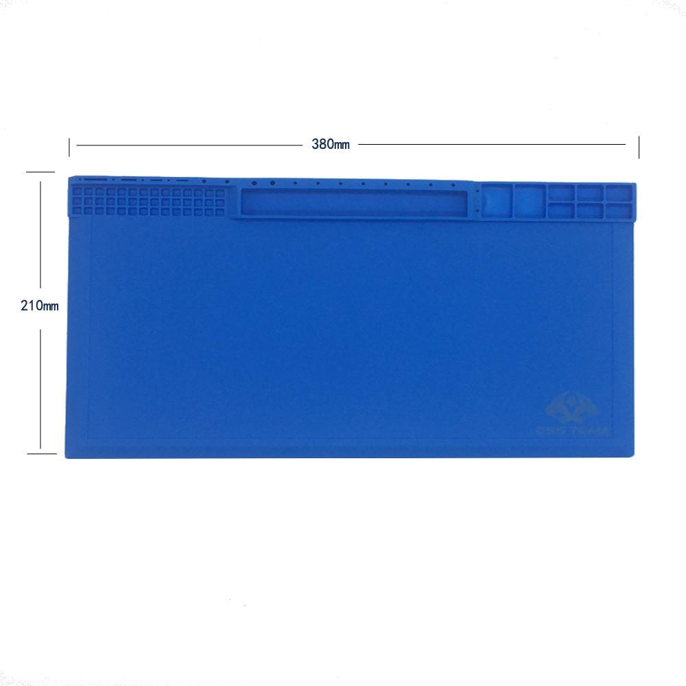 Più nuovo 38x21cm 3 colori Tappetino per vite in silicone ambientale - Set di attrezzi - Fotografia 3