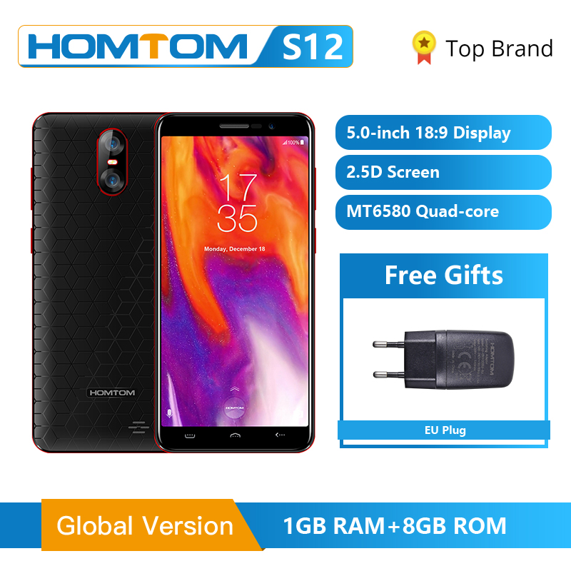 Global Version HOMTOM S12 3G Smartphone Android 6 0 5 0 inch 18 9 Full Display