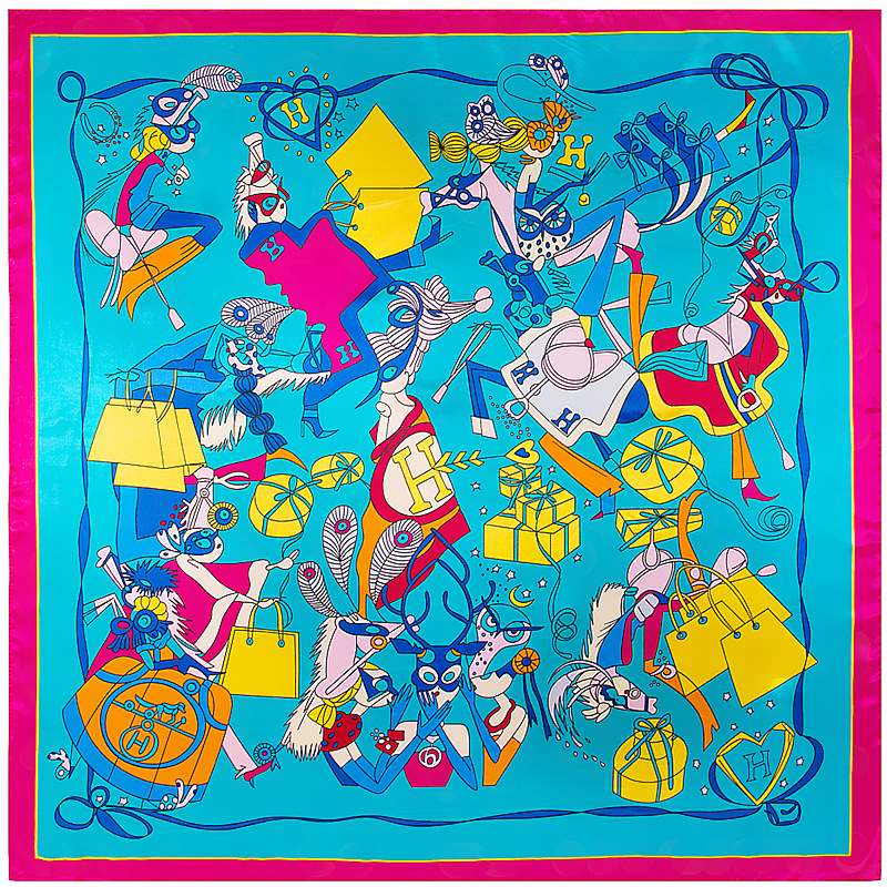 Модная шаль шарфы для Для Женщин Принтом шелковый атлас хиджаб шарф Женский 90 см * 90 см Элитный бренд Квадратные платки для дам