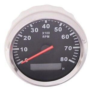 Image 4 - 85mm เรือรถ TACHOMETER, auto มอเตอร์ TACHOMETER สำหรับเครื่องยนต์ดีเซลเบนซินสีแดง 0 9990 RPM 12 V 24 V Lap TIMER เมตร