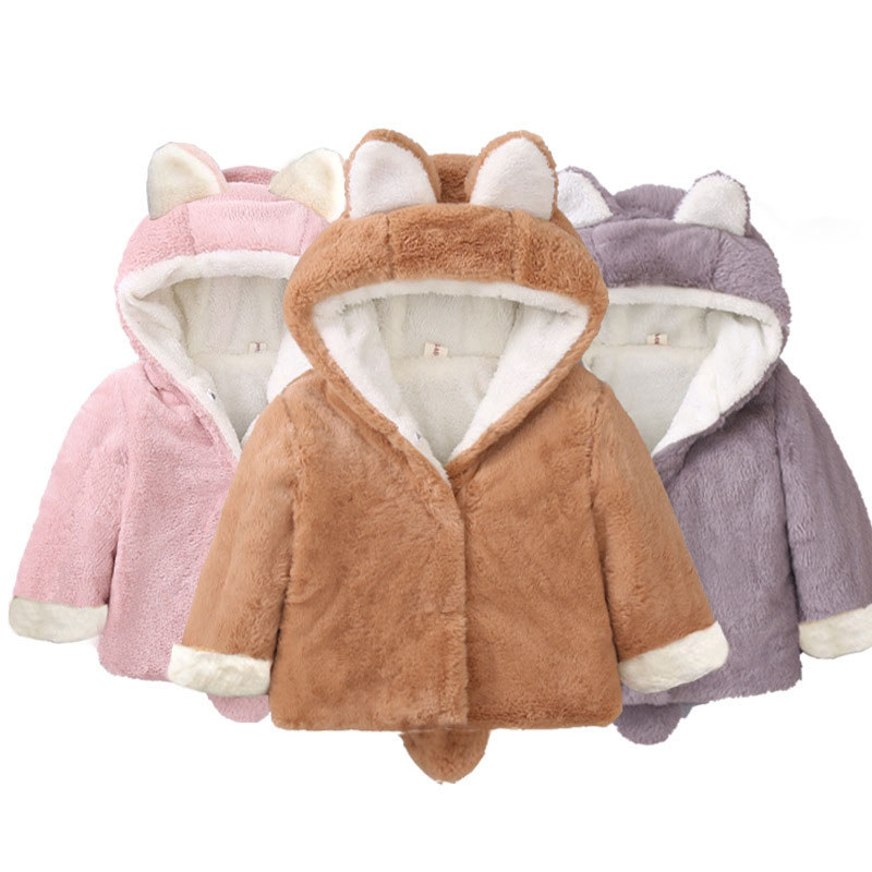 1-5 Years Old Baby Girl Winter Clothes Hooded Baby Boy Clothes Winter Girls Coat 2018 Autumn And Wnter Fashion Children Clothes
