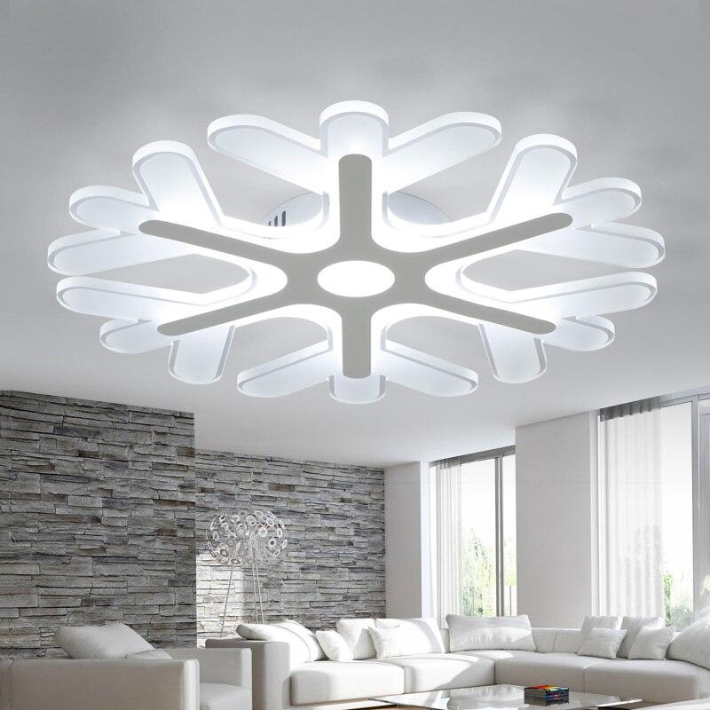 Moderno fiocco di neve LED plafoniere per camera da letto creativa ...