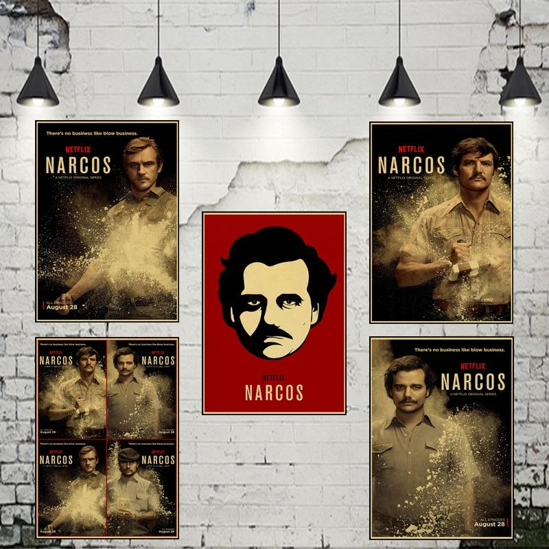 Classic Portrait Narcos Colombia Pablo Escobar Crime TV