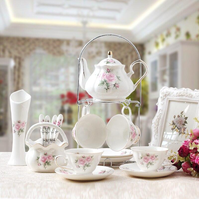 Tasse de café en porcelaine de style britannique | Service de tasses à café en porcelaine de haute qualité service de tasses à thé de style britannique, tasse à café ménagère cadeaux de mariage