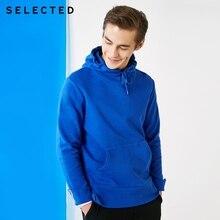 เลือกผู้ชาย 100% Cotton Pullover ตัดปกติ Fit Hoodie ลำลองเสื้อผ้าเสื้อกันหนาว S