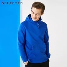 Seleccionado de los hombres 100% Jersey de algodón contraste Regular Fit ropa con capucha ropa Casual sudadera S