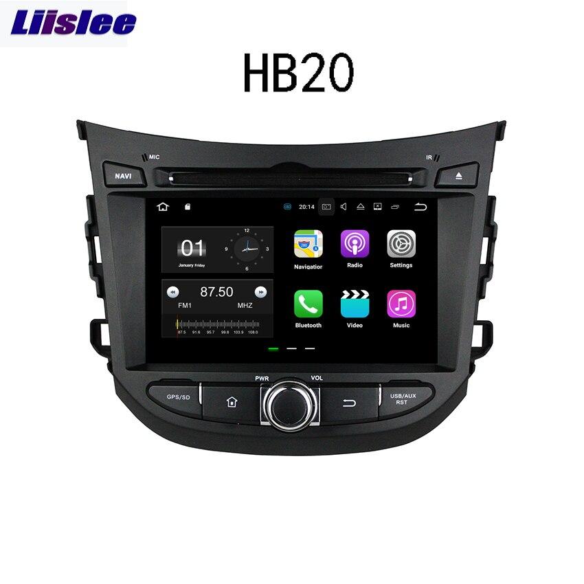 Liislee pour Hyundai HB20 2013 ~ 2017 Android voiture Navigation GPS Audio vidéo Radio stéréo multimédia HD lecteur d'écran.