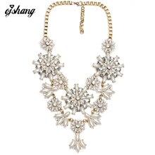 Грос Bijoux Colliers Femme Женщин 2016 Ожерелья Хрустальный Цветок Pearl Золото Серебряная Цепочка Colgantes Moda Mujer Joyas Макси