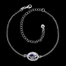 Foot Jewelry 4 Colors Zircon Pendants Charm Leg Ankle Bracelet Silver Anklets For Women