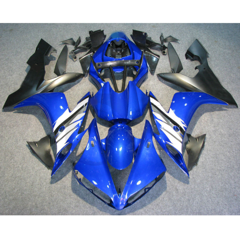 Free Shipping Injection Mold Plastic Fairing Kit Fit For YAMAHA YZF R1 2004-2006 05 Blue BLack new injection plastic mold for vehicle portable heater case china supplier