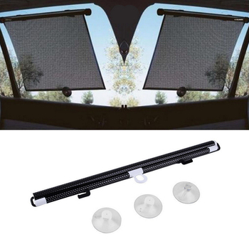 Black Auto Accessories Retractable Side Window Car Sun shade Curtain Automatic Sunscreen Roller Blinds Window Film Hot Selling image