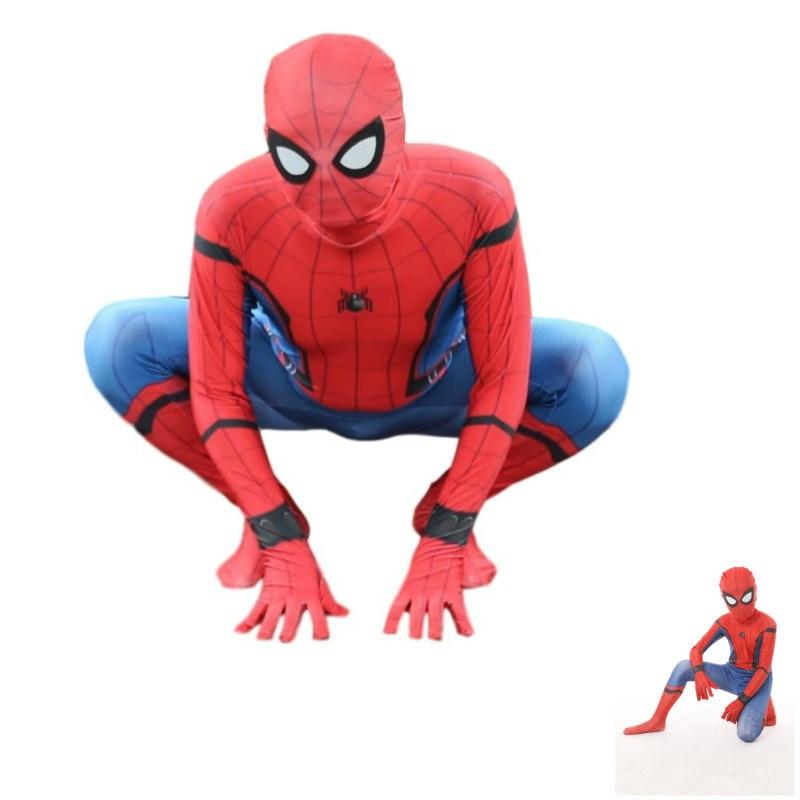 3d spiderman costume amazing spider man costume kids boys bodysuit kid suit halloween costumes for men adult superheros child
