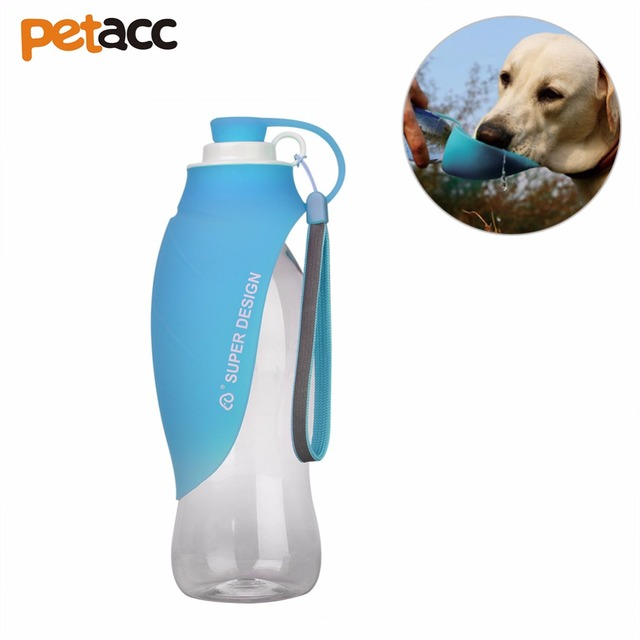 Petacc Pet Water Bottle Silicone Dog Travel Water Bottle Portable Pet Water  Cup With Silicone Bowl