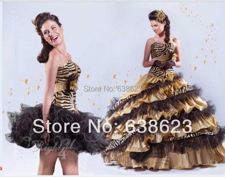 Compra Beige Vestidos De Dama De Honor Online Al Por Mayor: Compra Leopard Vestido De Quinceañera Online Al Por Mayor