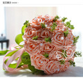 2017 Новое Прибытие Свадебный Букет невесты Невесты Белый/Розовый/Красный/Фиолетовый Искусственный Цветок Розы Невесты Букеты buque де noiva