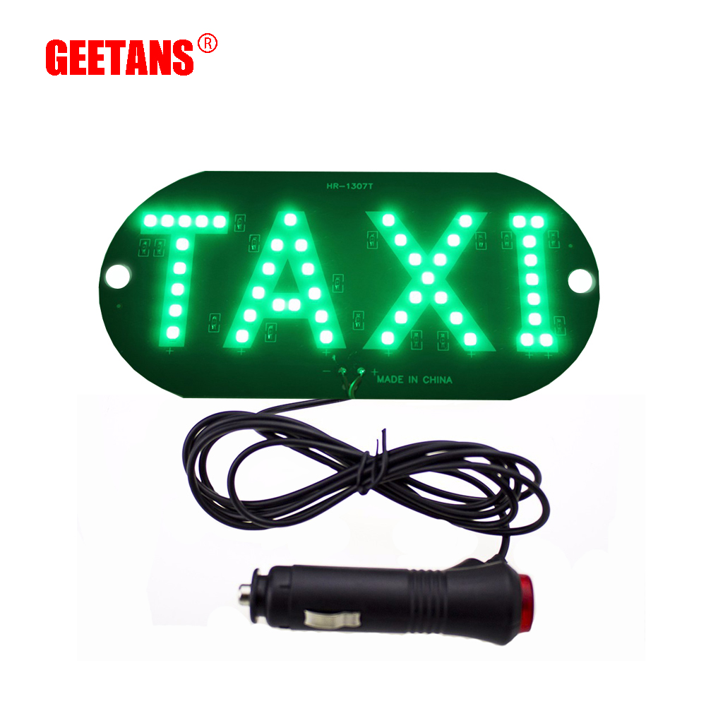 GEETANS 1pcs/lot Taxi Led Car Windscreen Cab indicator Lamp Sign Blue LED Windshield Taxi Light Lamp 12V BE izztoss yellow taxi cab roof top sign light lamp magnetic large size car vehicle indicator lights