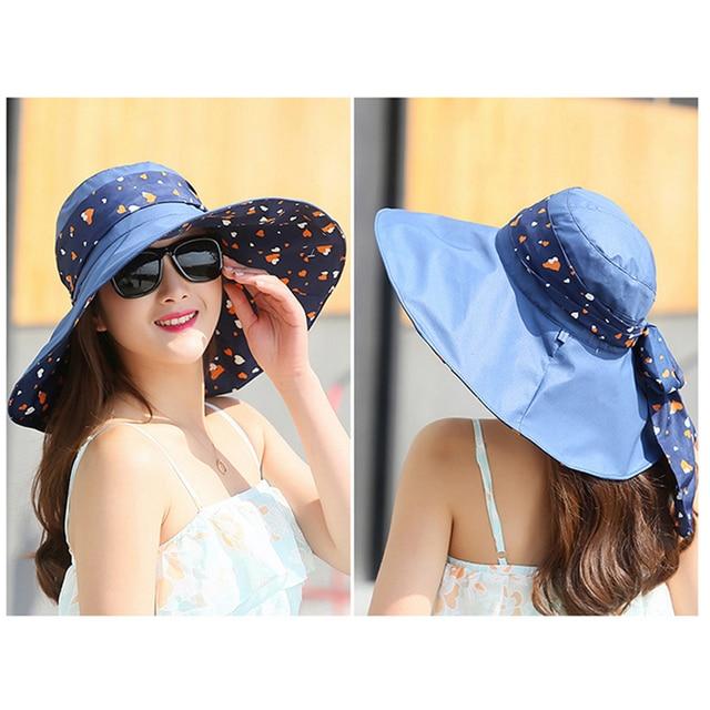 2017 Новая Мода Двойной-односторонний Износ Бантом Летнее Солнце Шляпу Красивые Женщины Пляж Шляпа Большой Шляпе 2067