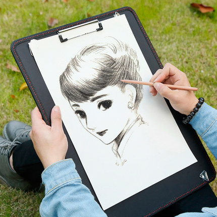 Creative Portable Sketch Clipboard Drawing Board A3 Paper Holder Writing Pad For Drawings