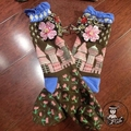 2017 Manual de Encargo Girl Calcetines Logotipo Popular Flor Joya Lentejuelas Bolas Nail Luz Borla de Seda Falbala Calcetines Pila Calcetines Femeninos