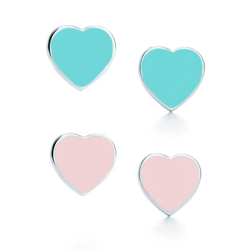 2017 Heart-shaped Stainless Steel Stud Earringss