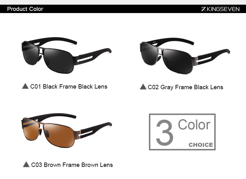High Quality Alloy Polarized Sunglasses Men Vintage Male Sport Sun glasses Driving Google Eyewear Come with 6 Accessories K7806 3