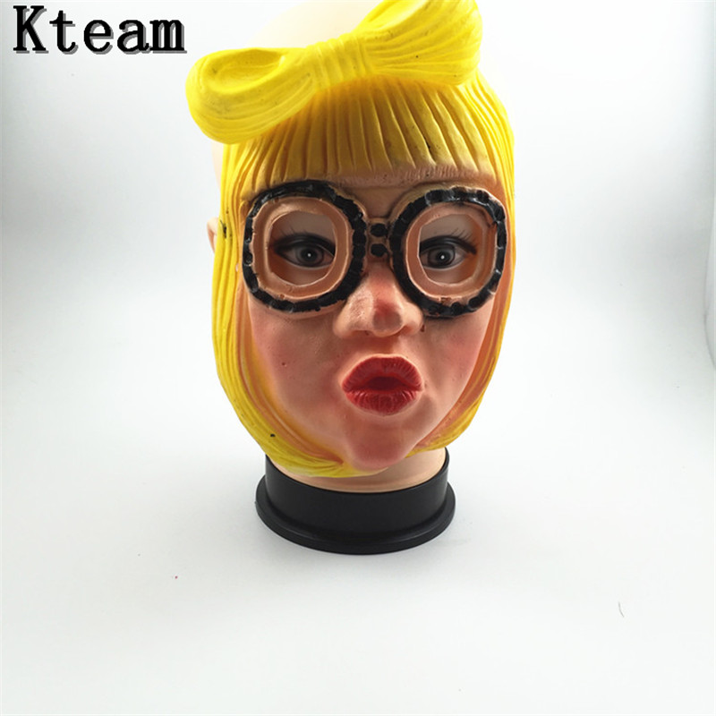 Hot Sale Lady Gaga Party Halloween Latex Mask Cosplay Costume Rubber Full Face Mask Woman Man Children Mask Anonymous Masquerade