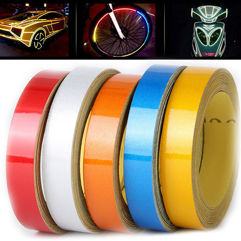 Waterproof Reflective Material Warning Stickers Auto Car Motorcycle Warning Tape Reflective Roadway Safety Accessories reflective front mitsubishi shelf reflective car stickers ling yue v3 lancer car stickers