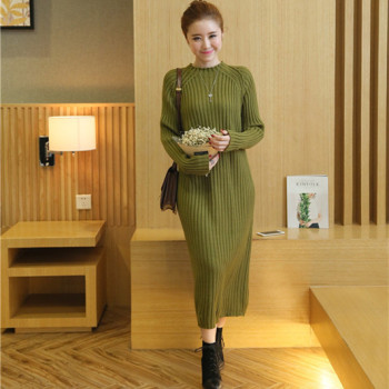 6575 – women's new version of knitted sweater dress long coat 47