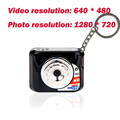 Free Shipping Lovely Keychain Design 30FPS HD X3 Mini DV Camera World's Smallest Camcorder Support Micro SD Card