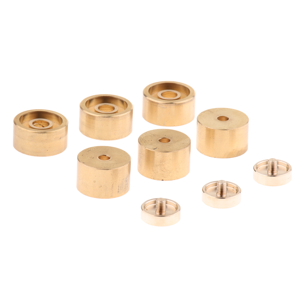 1 Set Golden Metal Trumpet Valve Finger Buttons Trumpet Repairing Parts Musical Instrument Accessories for Trumpet