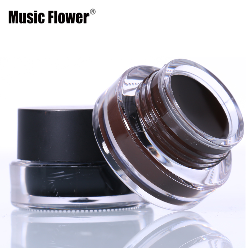 New Brand Eye Makeup 2 In 1 Brown Black Gel Eyeliner Make Up Water-proof Smudge-proof Set Eye Liner Kit With Brushes M2 Back To Search Resultsbeauty & Health Eyeliner