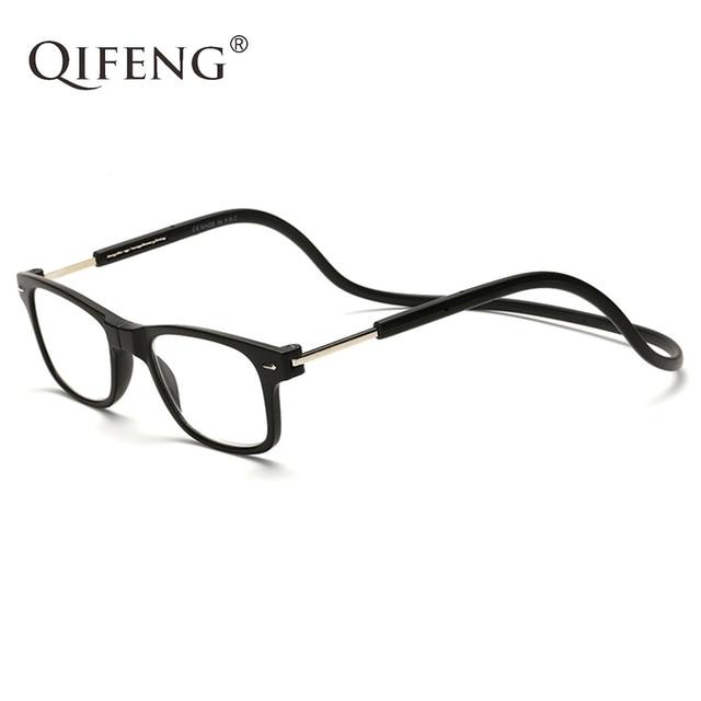 QIFENG Magnetic Reading Glasses Men Women Diopter Presbyopic Male Female Degree Eyeglasses +1.0+1.5+2.0+2.5+3.0+3.5+4.00 QF183