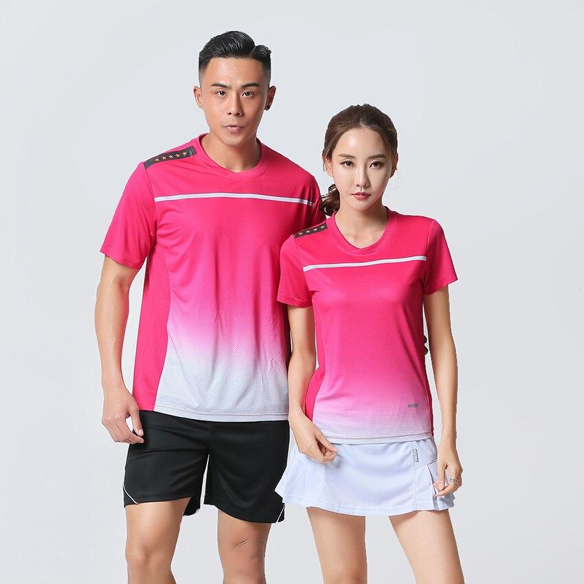 משלוח הדפסת מהיר יבש בדמינטון סטי גברים/נשים, טניס גופיות, בגדי טניס, טניס שולחן בגדים, ספורט חולצה + מכנסיים קצרים 5075