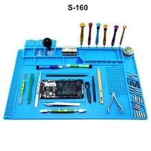S-160 Магнитный Теплоизоляционный силиконовый коврик антистатический мобильный телефон обслуживания платформы BGA паяльная станция для ремонта телефона